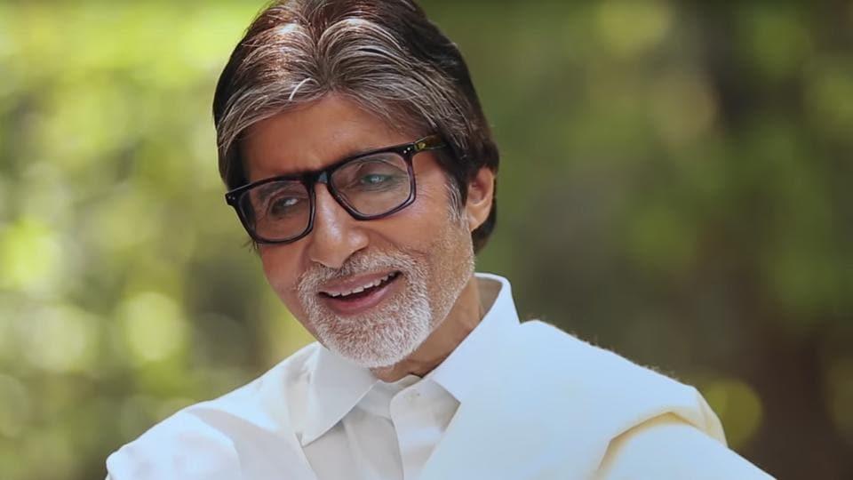 Amitabh Bachchan in a still from the Namami Brahmaputra song.