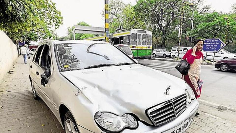 The boy's father, who runs a business of wedding cards, has been chargesheeted under sections of the Motor Vehicles Act.
