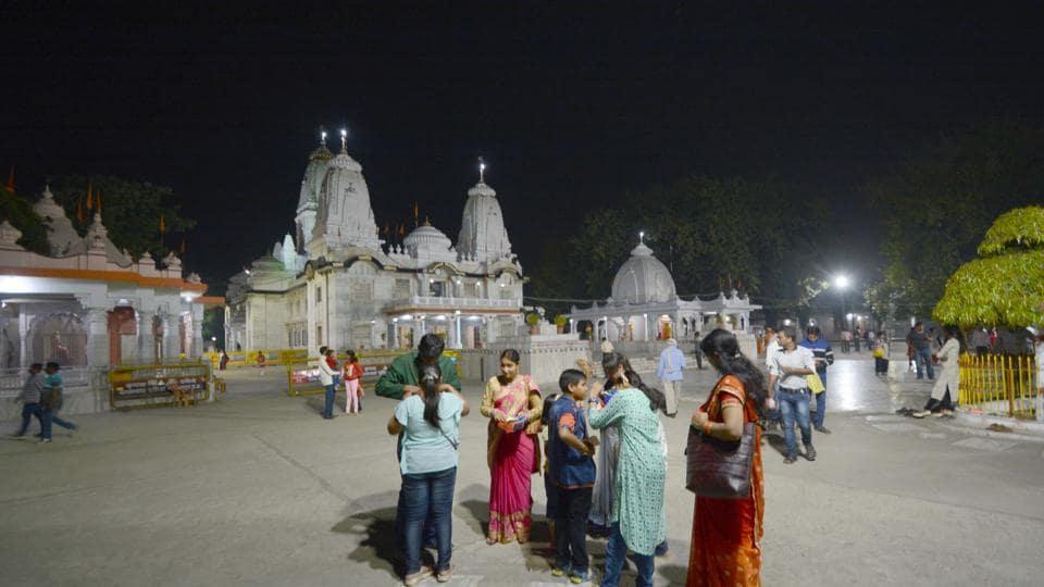 Inside views of the grand Gorakhnath Mandir.