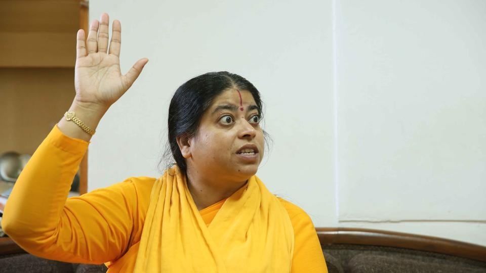 Sadhvi Kamal, the head of the Rashtriya Mahila Gau Raksha Dal, says she has saved hundreds of cows from being taken to slaughter houses.