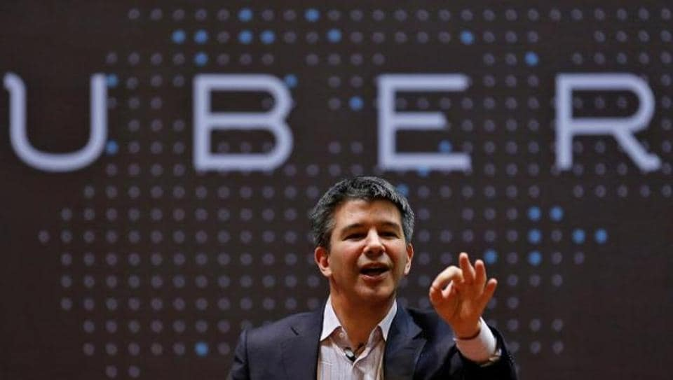 Uber CEO Travis Kalanick speaks to students during an interaction at the Indian Institute of Technology (IIT) campus in Mumbai