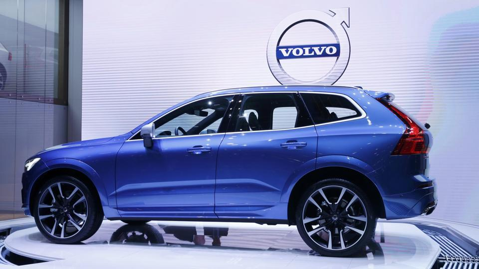 The new Volvo XC60 car is seen during the 87th International Motor Show at Palexpo in Geneva.