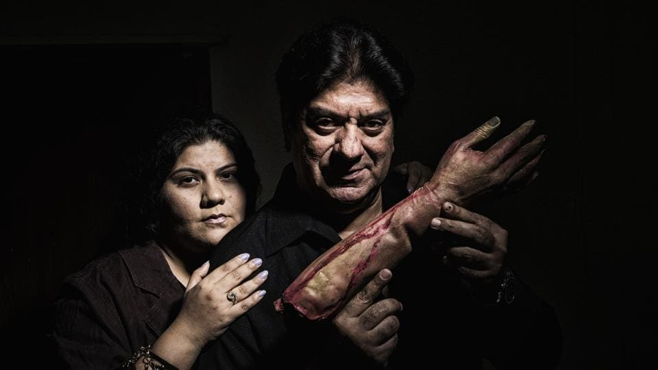 Filmmaker Shyam Ramsay with daughter Saasha at 101India's office in Bandra