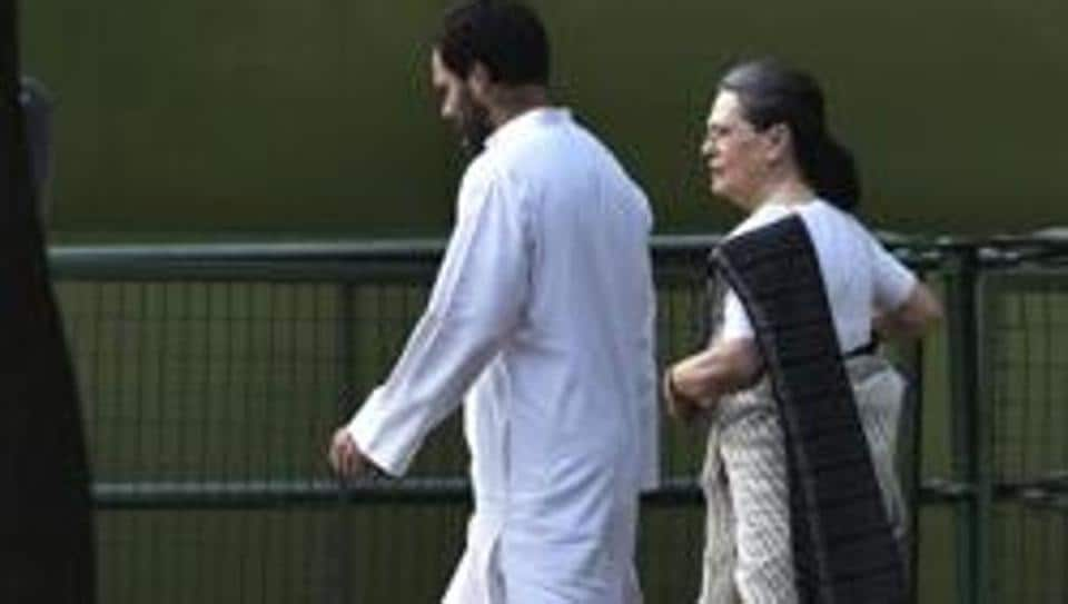 Congress President Sonia Gandhi, who had been abroad for medical check-up, returned home late on Thursday night accompanied by her son Rahul Gandhi.