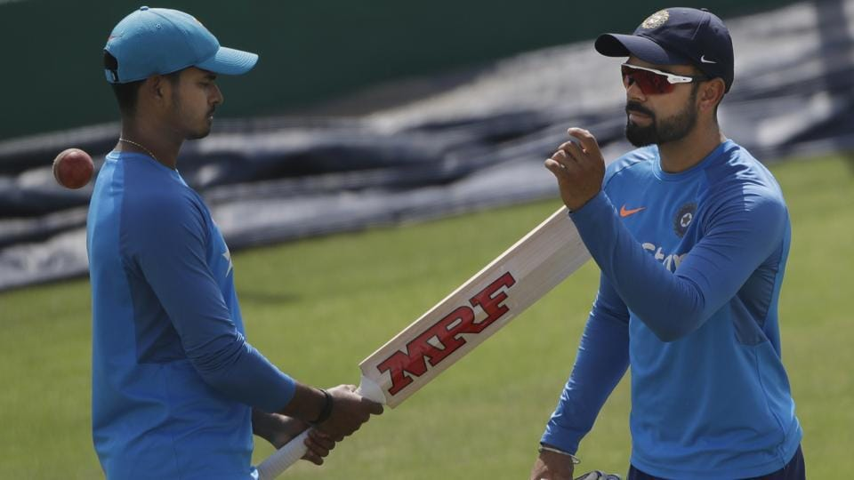 Virat Kohli is nursing a shoulder injury going into the fourth Test match against Australia in Dharamsala.