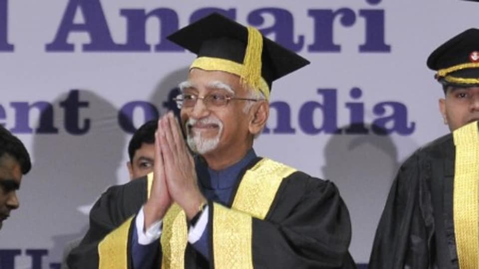 """Delivering the 66th convocation address at the Panjab University, Vice President Hamid Ansari said that recent events in our country have shown that """"there is much confusion about what a university should or should not be""""."""