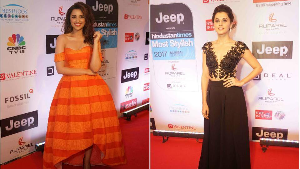 While we love Parineeti Chopra's orange summer dress, Taapsee Pannu wowed us in a sleek black gown.