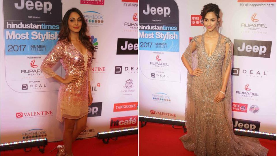 Newbies Kiara Advani and Disha Patani dazzled all with their glittery and sequenced dresses. The two acted together in the last year's biopic on the former captain of Indian cricket team, Mahendra Singh Dhoni.