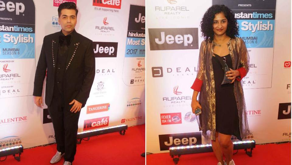 The most wanted directors of the showbiz at the moment, Karan Johar and Gauri Shinde, kept it casual yet classy. We couldn't help but take note of Karan's jazzy loafers.