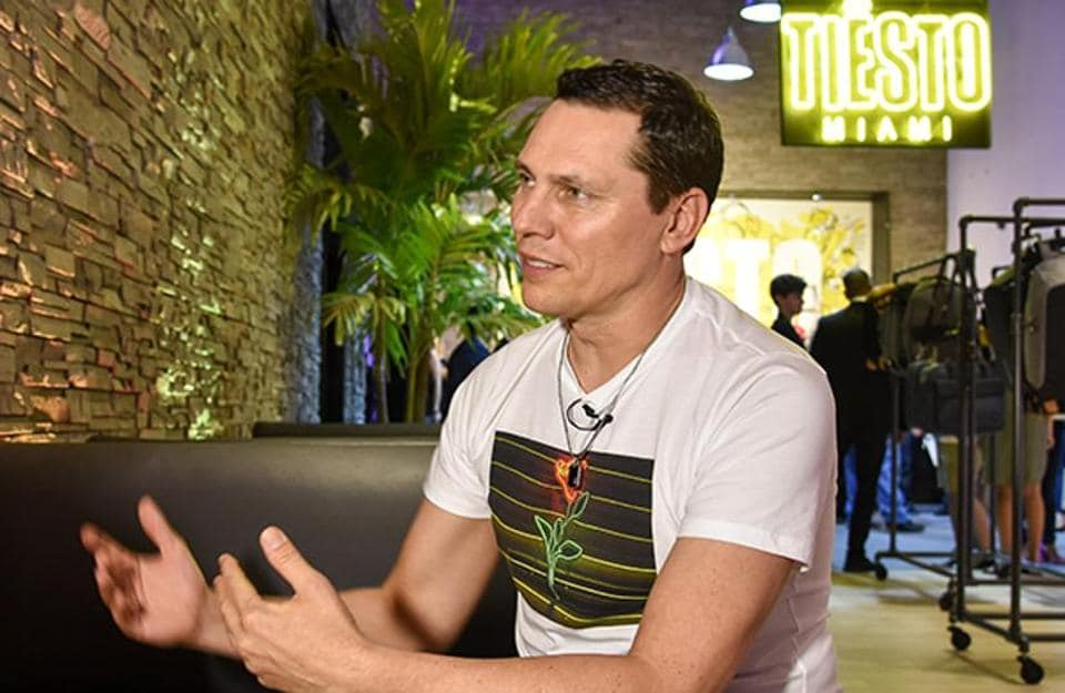 Grammy-winning DJ-producer Tiesto at the opening of Tiesto Miami, a pop up boutique in Miami Beach, Florida, on Wednesday.