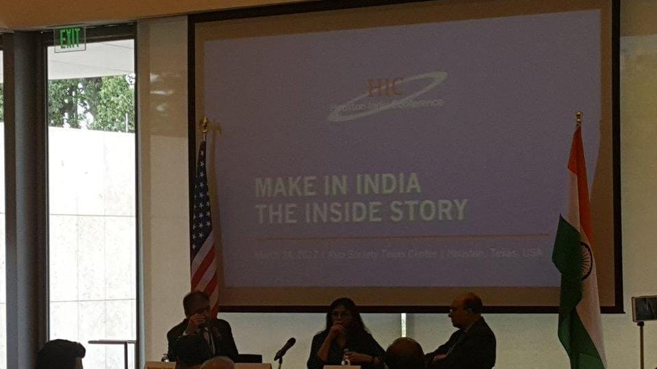 Houston India Conference, hosted by Asia Society Texas Center began on March 23 with the theme of 'Make in India- The Inside Story'.
