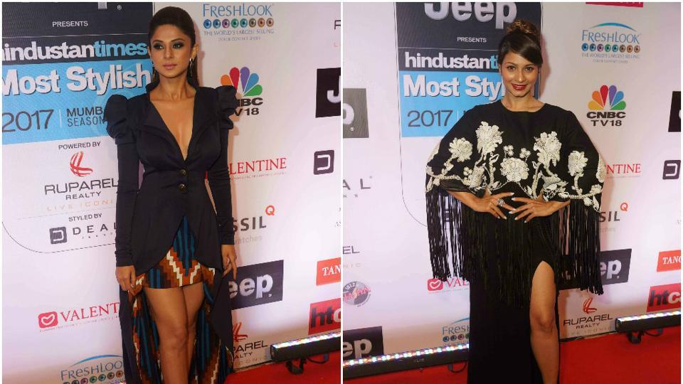 Jennifer Winget and Tanisha Mukherji dressed just for the occasion — suave and stylish.