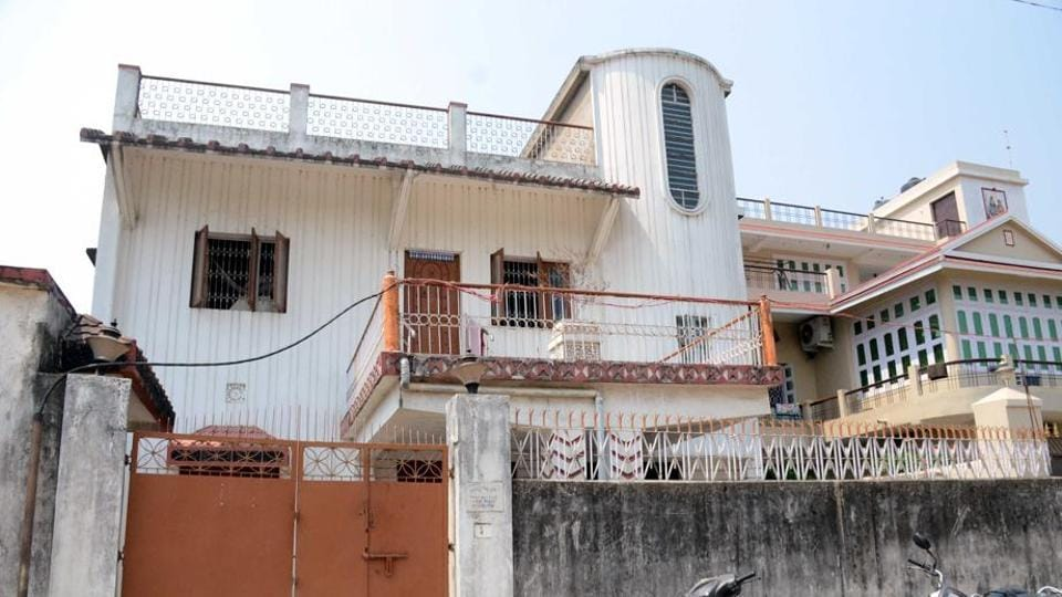 House of  retired government official  RA Roy who had rented out a room to the four alleged shooters who killed Dhanbad's ex-deputy mayor Neeraj Singh