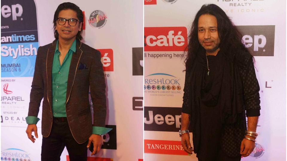 No surprises here. Singers Shaan and Kailash Kher.