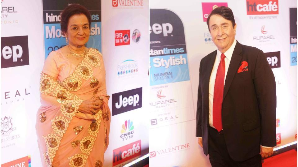 Evergreen and ever so charming Asha Parekh and Randhir Kapoor at the event.