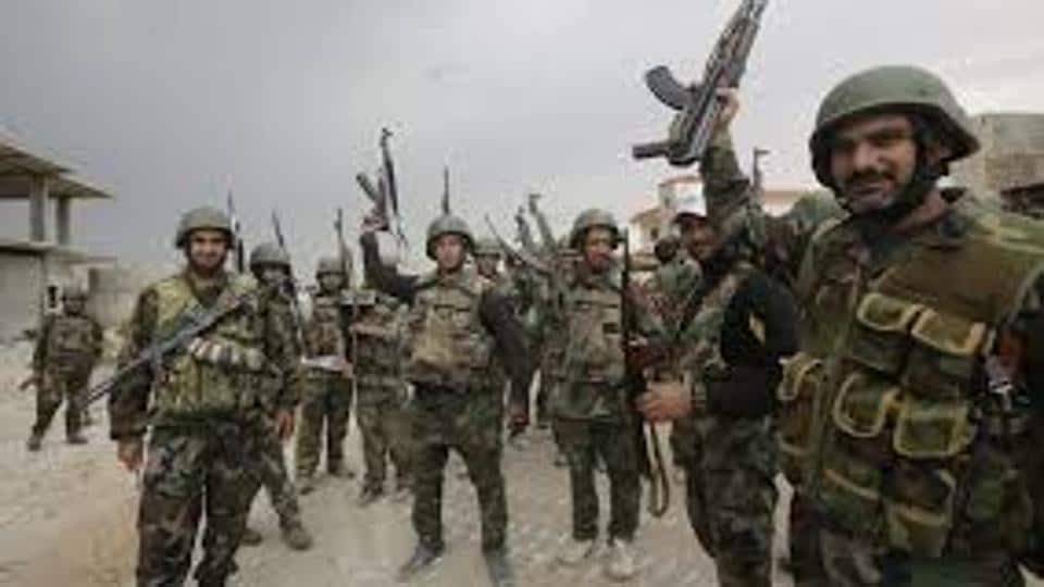Syrian government troops onFriday recaptured all points taken by rebels in a surprise offensive launched late last week in the east of the capital Damascus, state media said.
