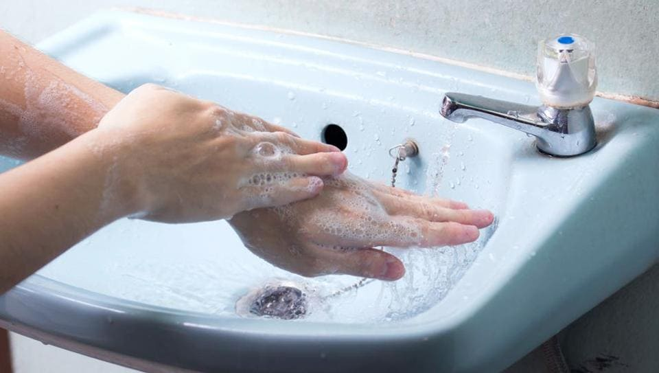 Soap doesn't kill germs but helps remove them from the skin's surface so they can be washed away with water, so make sure you wash your hands thoroughly in running water.