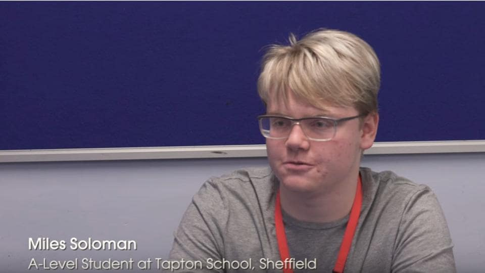 Miles Soloman, an A-level student from Sheffield found out an error in a set of data recorded on the International Space Station and connected NASA to point it out.