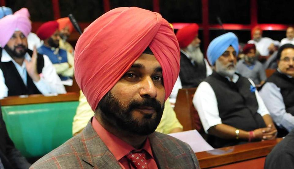 Punjab cabinet minister Navjot Singh Sidhu at Punjab Vidhan Sabha in Chandigarh on Friday.