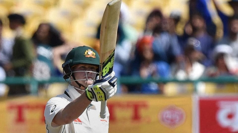Steve Smith scored his third century of the series, off just 150 balls, against India in Dharamsala on Saturday.