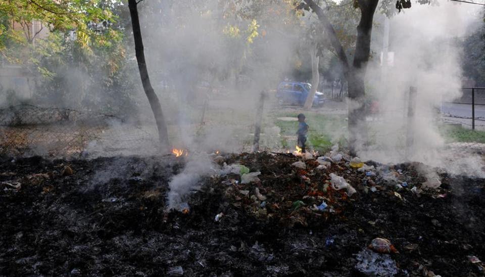 Gurgaon,waste burning,air quality index