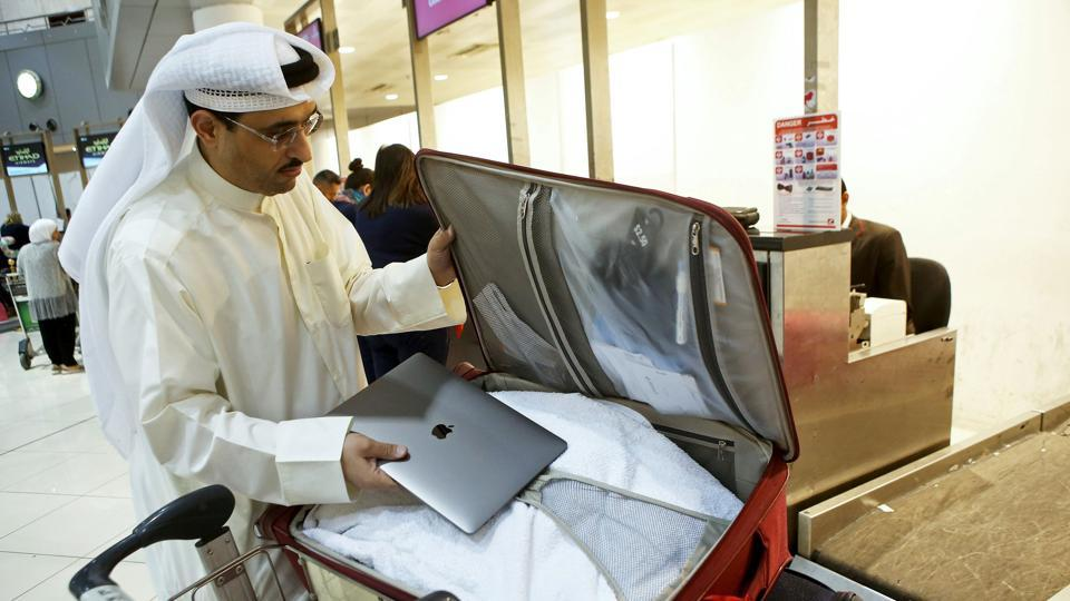 Image result for laptop ban announcement