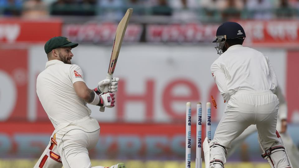 Australia cricket team's Matthew Wade had serious problems reading India cricket team's Kuldeep Yadav on Day 1 of the Dharamsala Test on Saturday. He was eventually bowled out by Ravindra Jadeja.