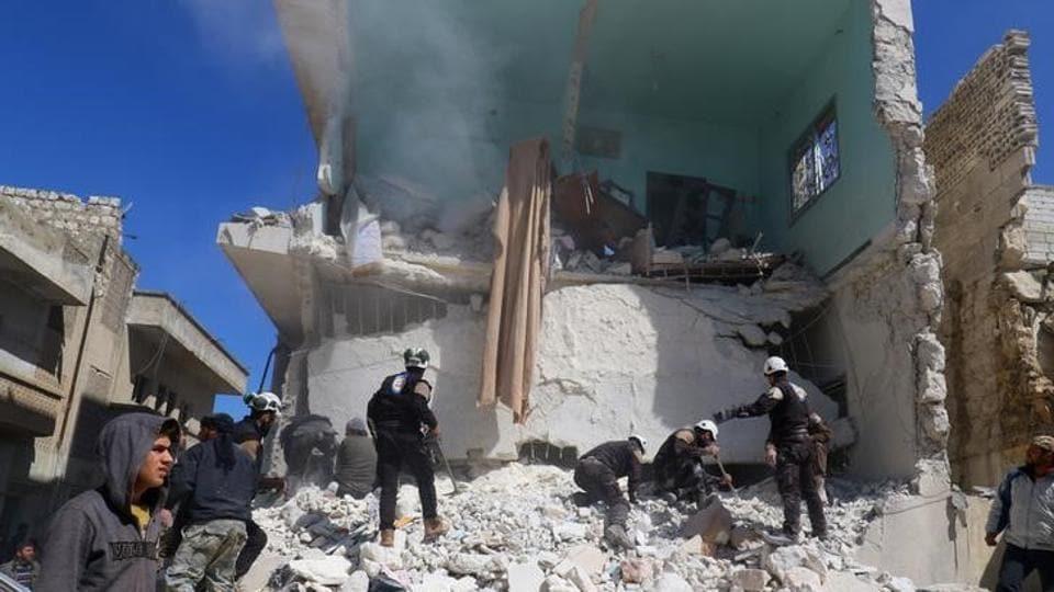 Syria,Air strike,Idlib