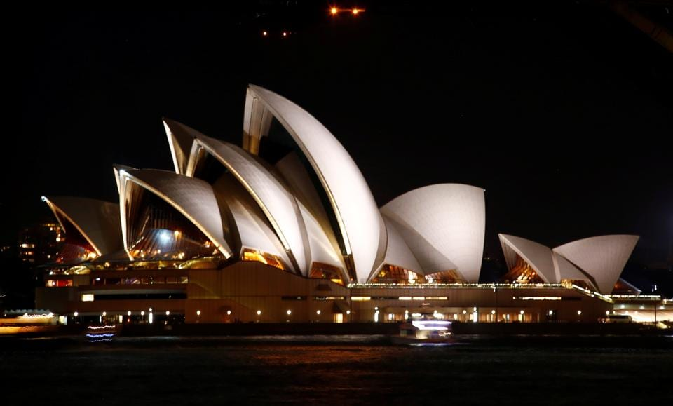 The Sydney Opera House seen before the tenth anniversary of Earth Hour in Sydney, Australia. (David Gray / REUTERS)