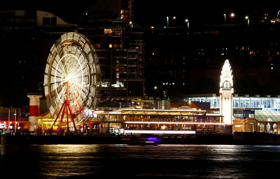 The rides at Luna Park seen before the tenth anniversary of Earth Hour in Sydney, Australia. (David Gray / REUTERS)