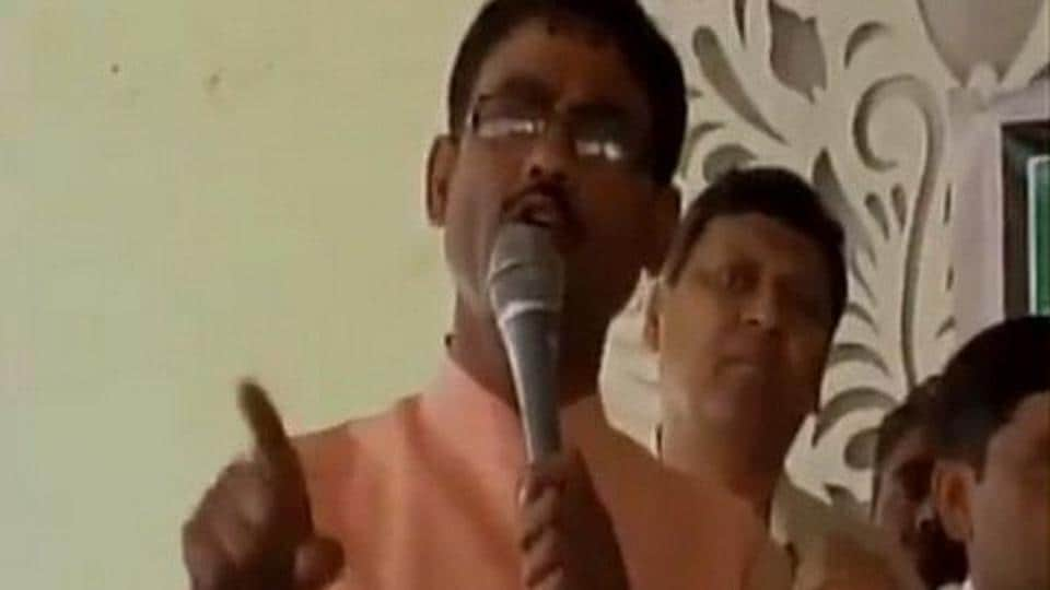 BJP MLA from Khatauli, Vikram Saini, made a controversial  remark about physically  harming people who disrespect and kill cows.