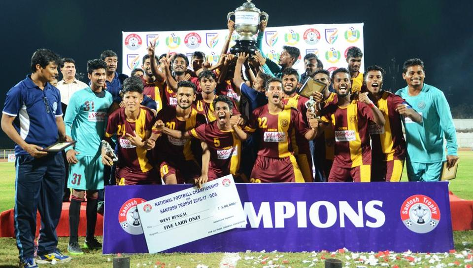 Bengal defeated Goa 1-0 in extra-time in the final of the Santosh Trophy on Sunday, to lift the title for a record 32nd time.