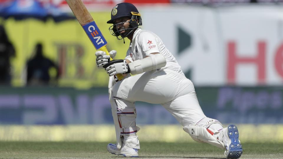 India captain Ajinkya Rahane was out for 46 on Day 2 of the India vs Australia Dharamsala Test. Get scorecard of India vs Australia Dharamsala Test here.