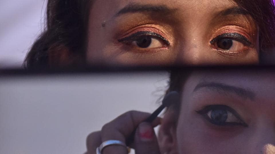 Members of LGBT community backstage before a cultural event at Juhu in Mumbai. (Pratham Gokhale/HT Photo)