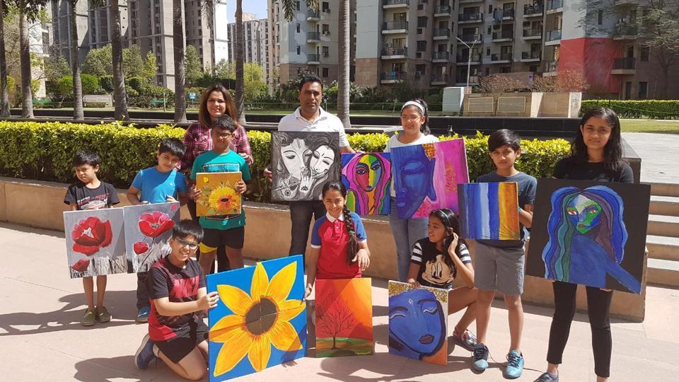 Gurgaon,Uniworld Gardens,painting competition