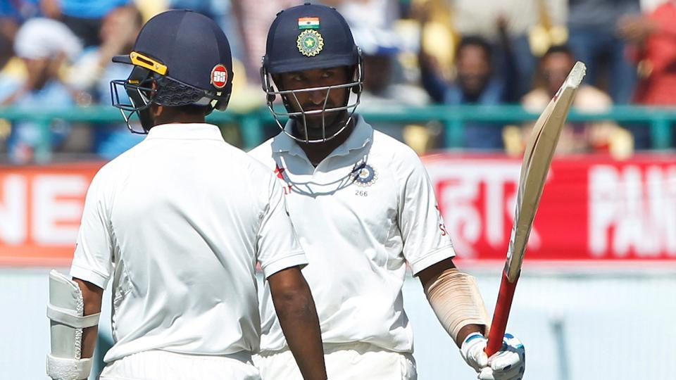 Cheteshwar Pujara scored a gritty fifty against Australia in the second day of the fourth India vs Australia Test in Dharamsala. Catch highlights of India vs Australia 4th, Test Day 2 here.