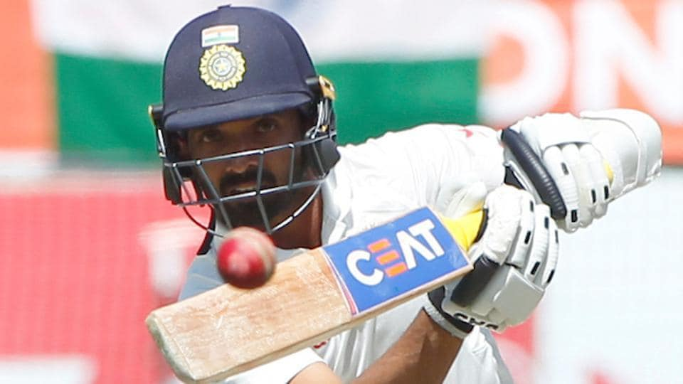 Ajinkya Rahane bats during day two of the fourth test match between India and Australia. (BCCI)