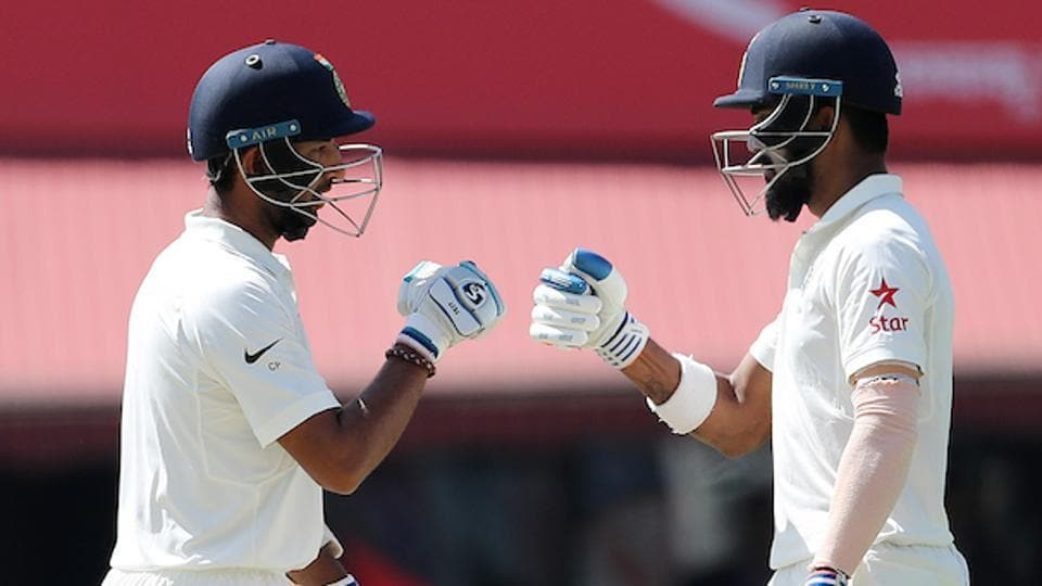 Cheteshwar Pujara and KL Rahul shared a 83-run stand for the 2nd wicket. (BCCI)
