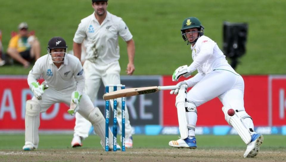 Quinton de Kock scored 90 for South Africa against New Zealand in the first innings of the third Test.
