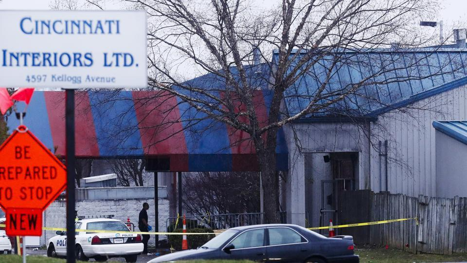 Police work at a crime scene at the Cameo club after a reported fatal shooting, Sunday, March 26, 2017, in Cincinnati.