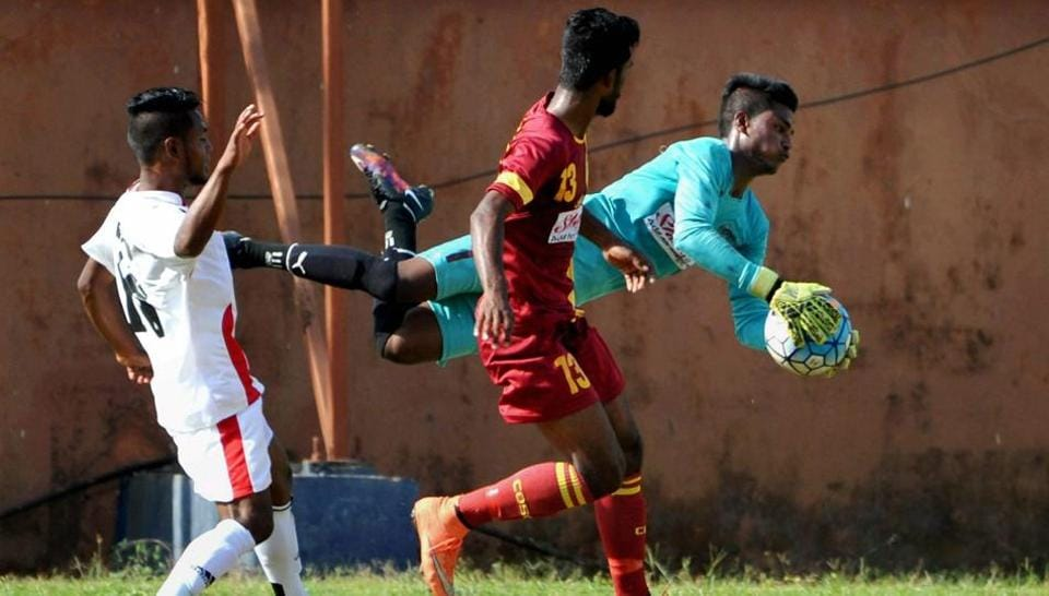 Bengal (in red) have won the Santosh Trophy a record 31 times and will be keen on adding one more to the list in Sunday's final against Goa.