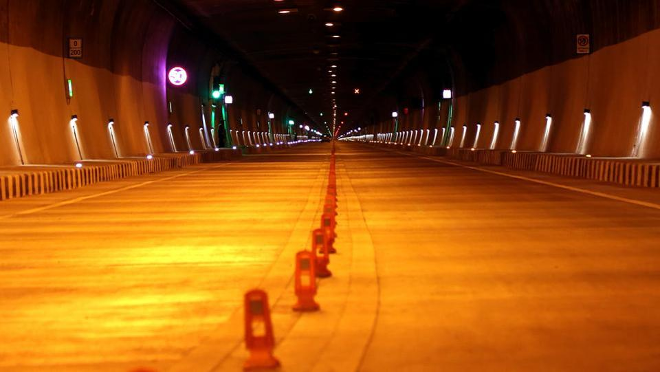 The all-weather tunnel is especially important as it reduces traffic jams and congestion on this critical highway due to heavy snow and treacherous terrain in the winter season. (HT Photo)