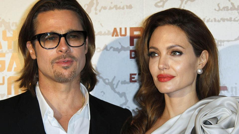 Actor Brad Pitt with Angelina Jolie. They have been in a custody battle for the children.