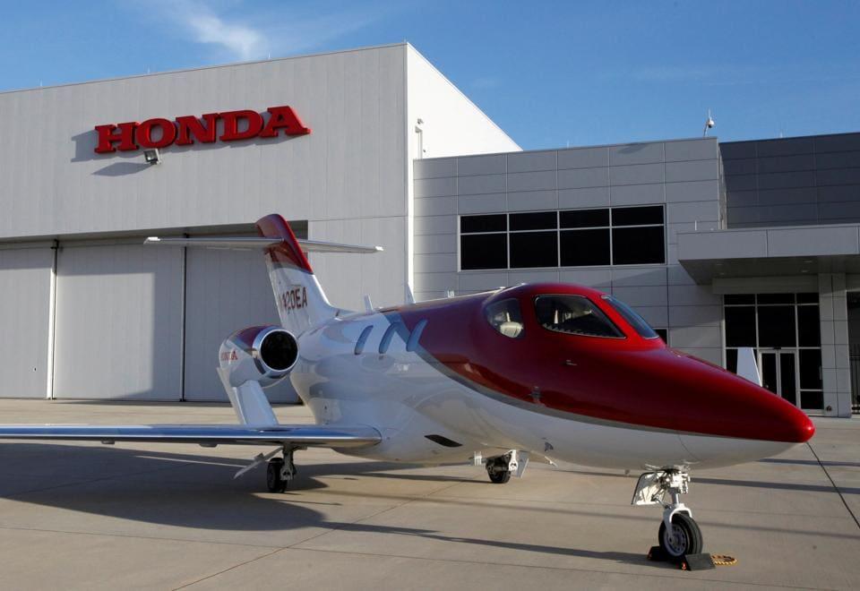 FILE PHOTO : Honda Motor's HondaJet business airplane is seen at Honda Aircraft Company in Greensboro, North Carolina, U.S., November 11, 2016. REUTERS/Maki Shiraki/File Photo