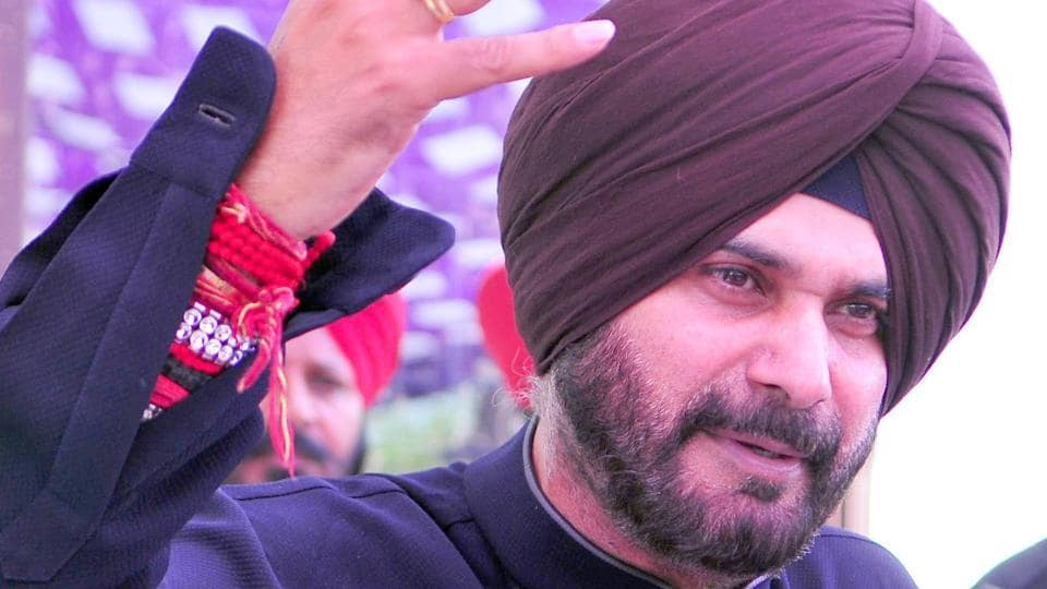 Punjab local bodies minister Navjot Singh Sidhu during a thanksgiving visit to his constituency Amritsar East on Sunday, March 26.