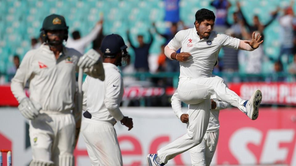 Umesh Yadav was all about pace and bounce on the third day of the fourth and final Test between India and Australia in Dharamsala on Monday.