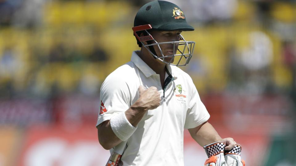 David Warner was dismissed for six in the fourth India vs Australia Test match in Dharamsala.