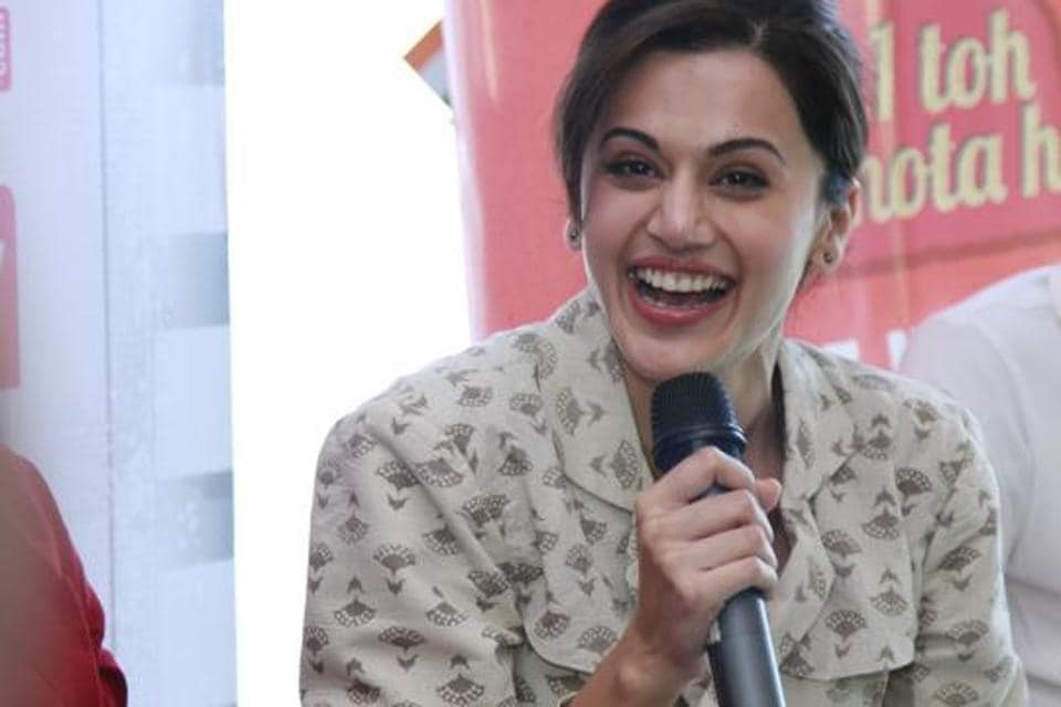 Taapsee Pannu said working in Naam Shabana felt like working in Baby all over again, just that in this film, she had more screen space, had to dub a lot more and also was paid more. (WASEEM GASHROO/HT PHOTO)
