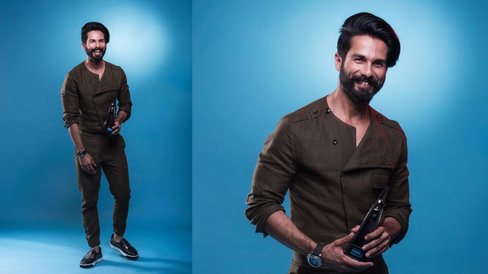 Shahid Kapoor's cool look made the ladies at the Hindustan Times Most Stylish Awards 2017 swoon. He won the Most Stylish Actor award. (Aalok Soni/HT Photo)
