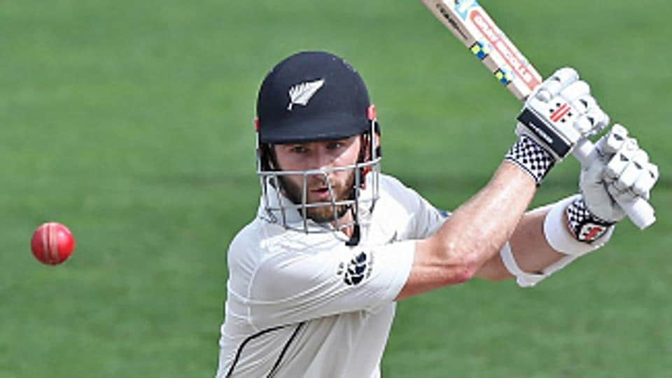 Kane Williamson en route to his century against South Africa in Hamilton, New Zealand.